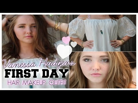 First Day of School Hair, Makeup & Outfit Inspired by Vanessa Hudgens